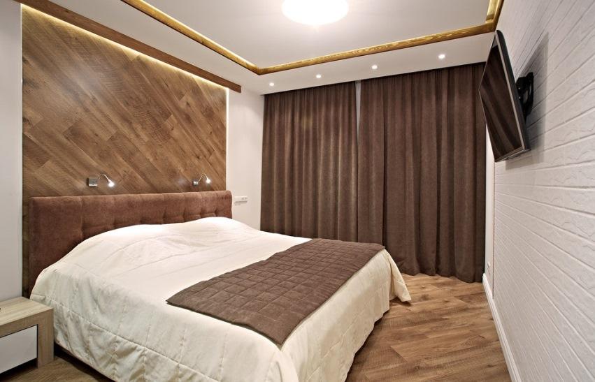 Ламинат на стенах комнаты