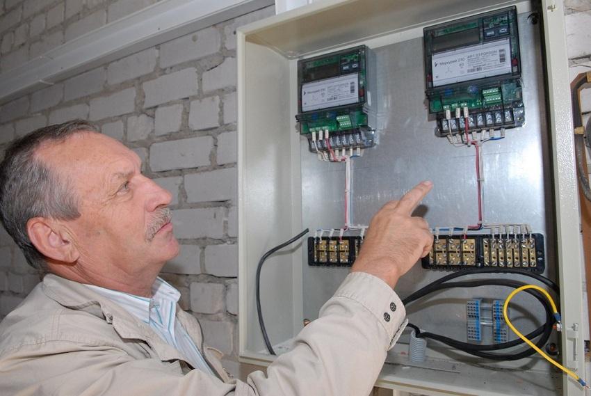 Электрощит с умными счетчиками света
