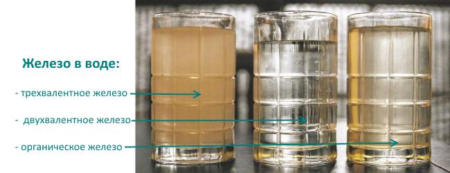 железистая вода