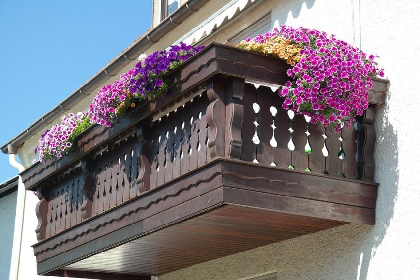 Балкон с петуниями