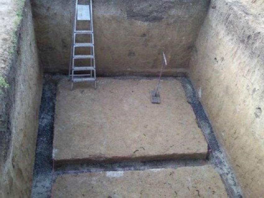 котлован погреба
