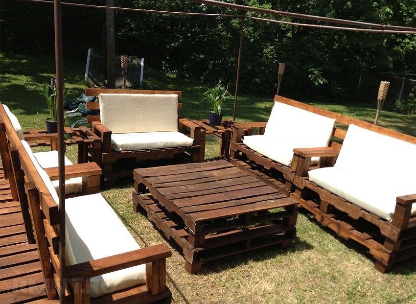 Как сделать садовую мебель из поддонов своими руками