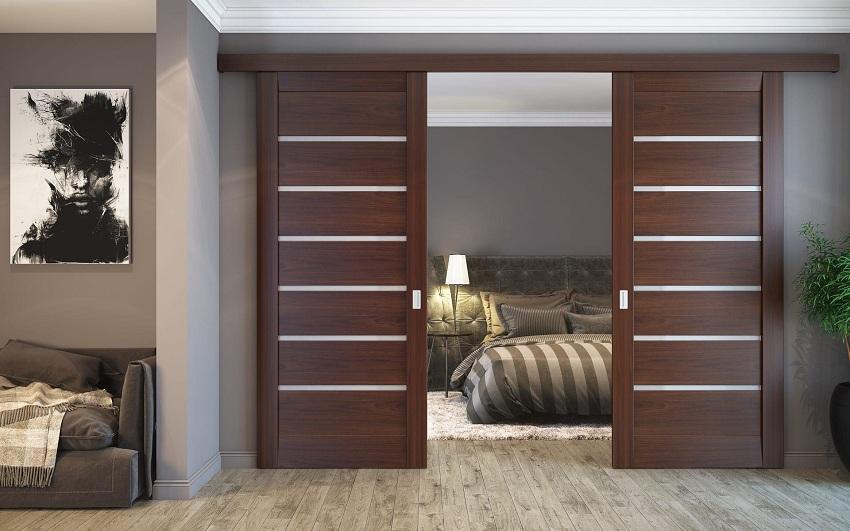 Раздвижные двери в спальню