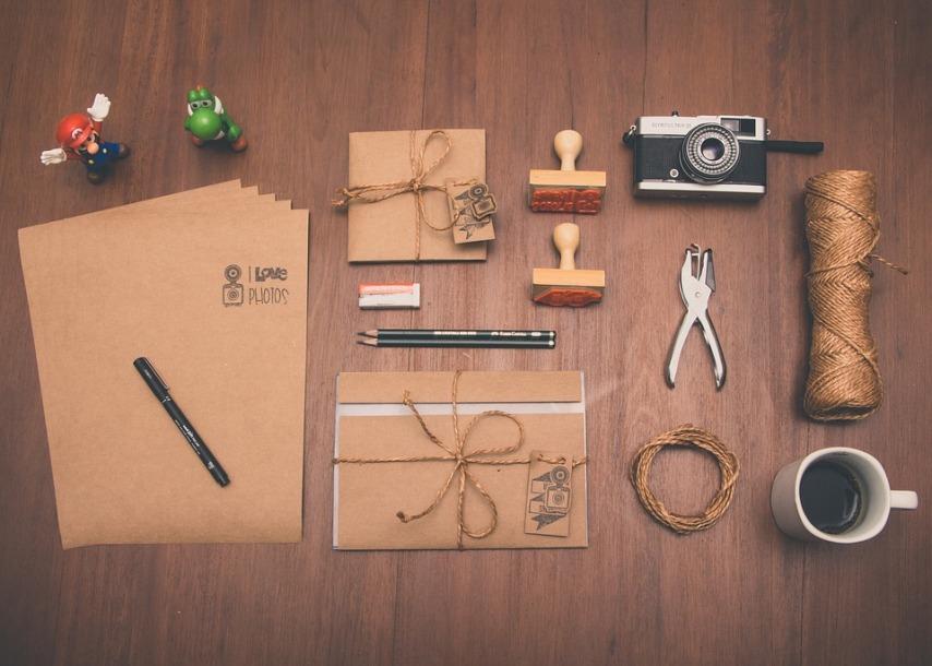 Письма и открытки с использованием остатков обоев