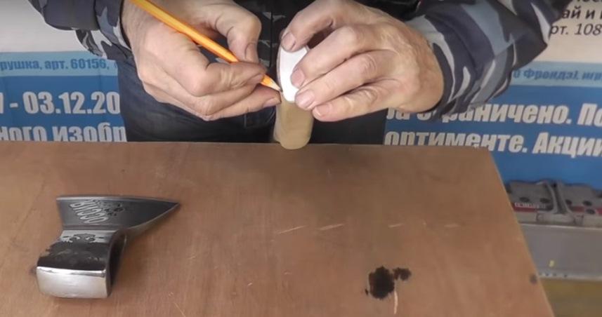 Контур обработки топорища