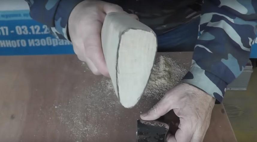 Торец обработанной заготовки