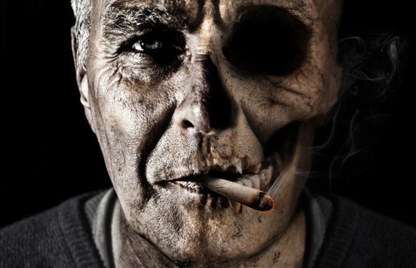 Курильщик вредит и себе, и людям