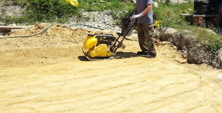 стоимость трамбовки песка