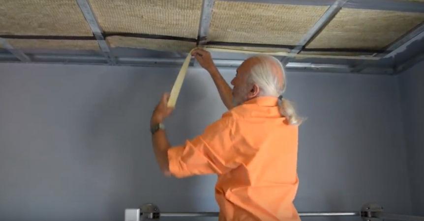 Теплый потолок: монтаж
