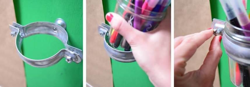 Установка карандашницы на мольберт