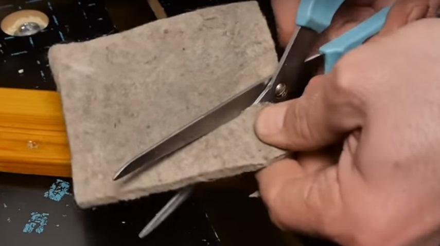 Разрезание войлока