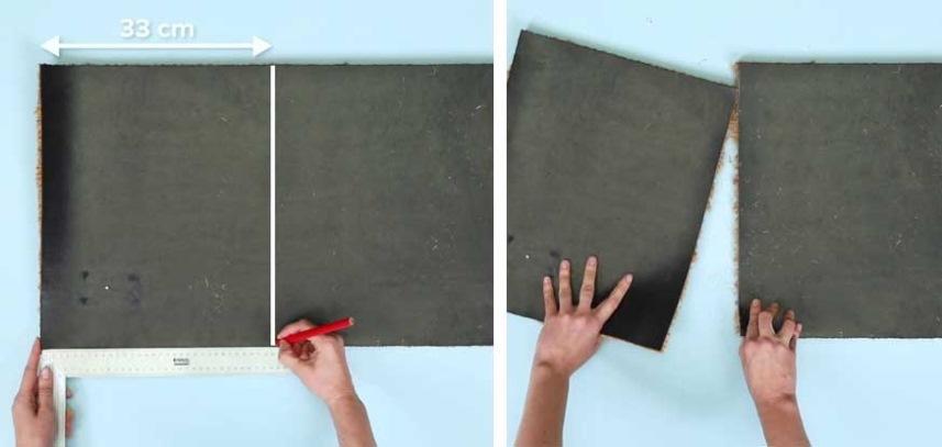 разрезание коврика