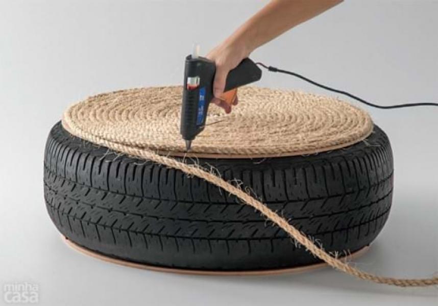 Фиксация конца веревки на шине