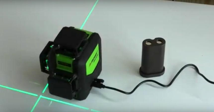 Лазерный уровень: работа от сети