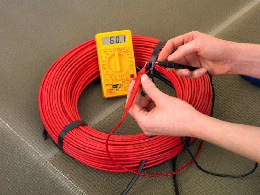 Целостность греющего кабеля: проверка