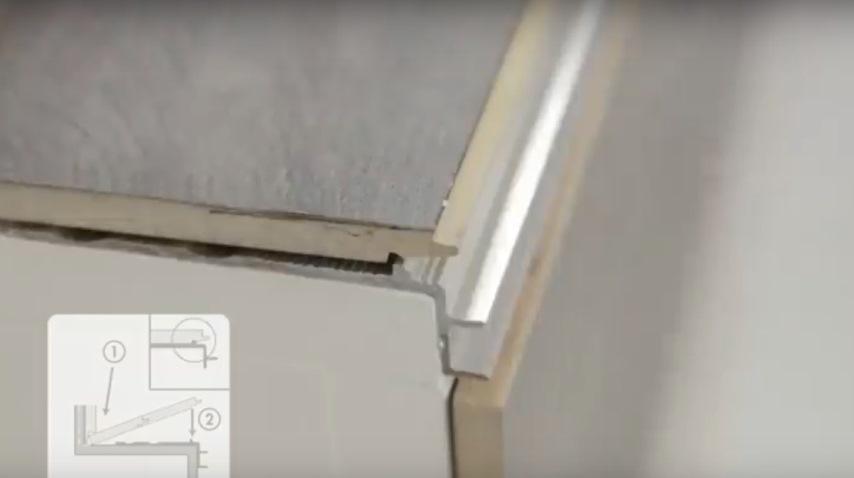 Укладка ламината на лестницу