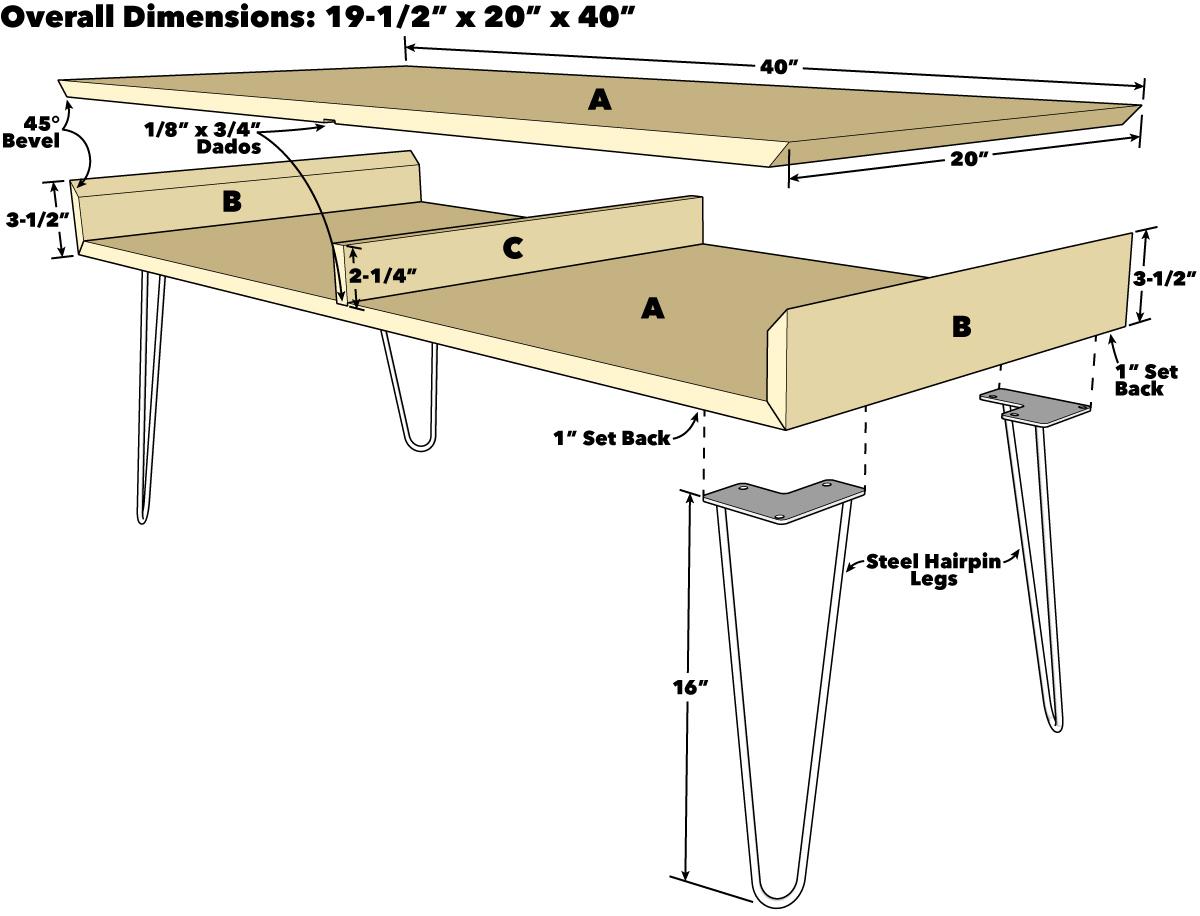 Стильный кофейный столик своими руками