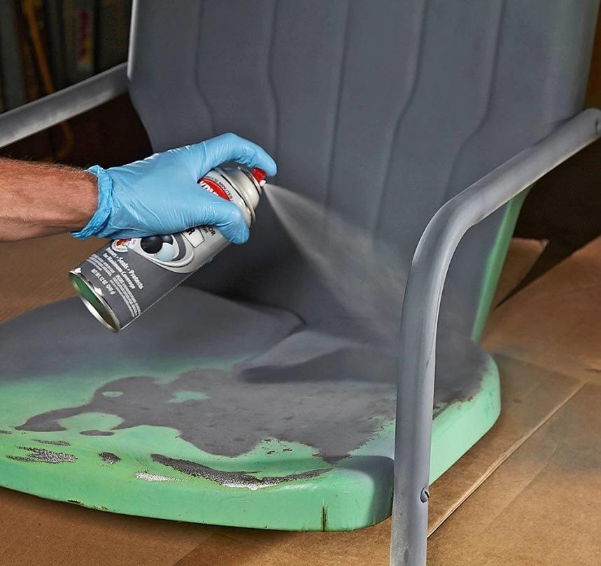 аэрозольные краски: покраска