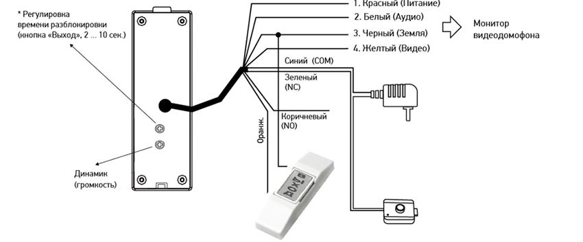 Электромеханический замок - Схема