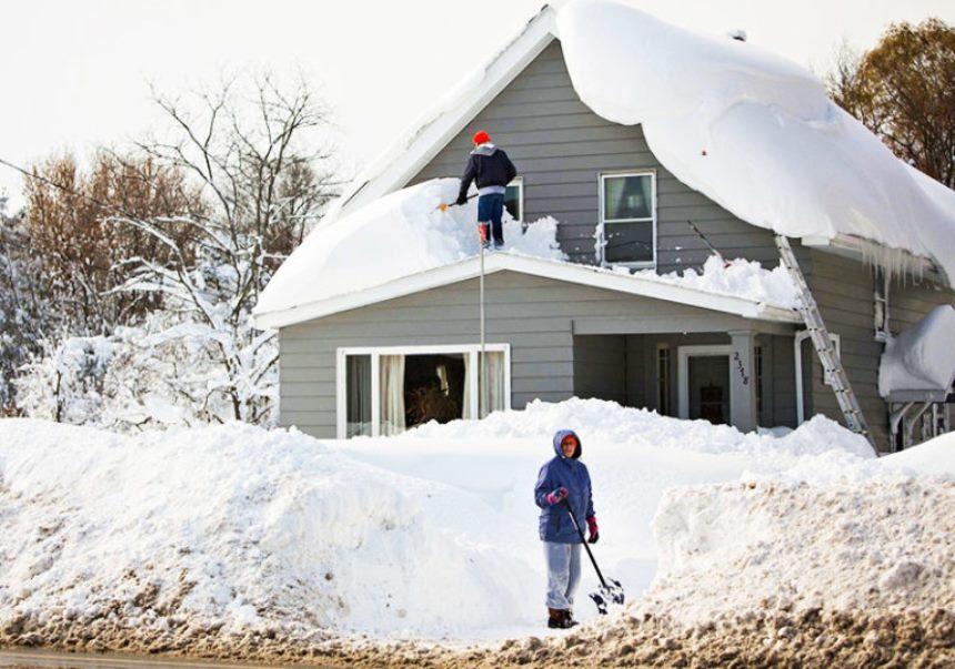 Обрешетка - Снег на крыше