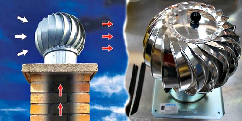 Вентиляция погреба - дифлектор на венттрубу