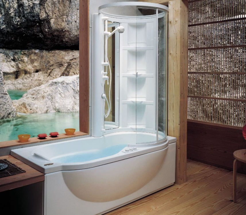 Сантехника - Ванна с душевой кабиной
