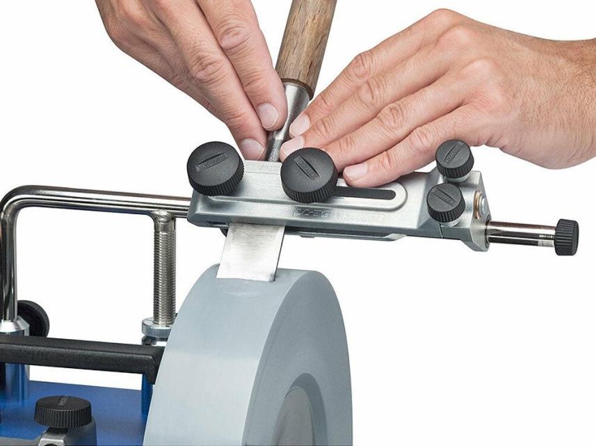 Заточка стамески - держатель для точила