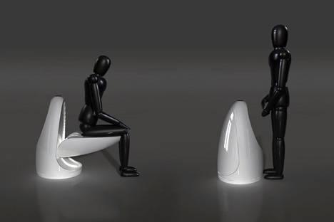Общественный писсуар туалета