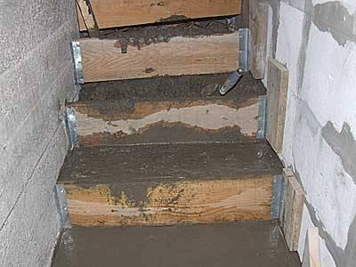 Лестница из бетона в погреб своими руками 71