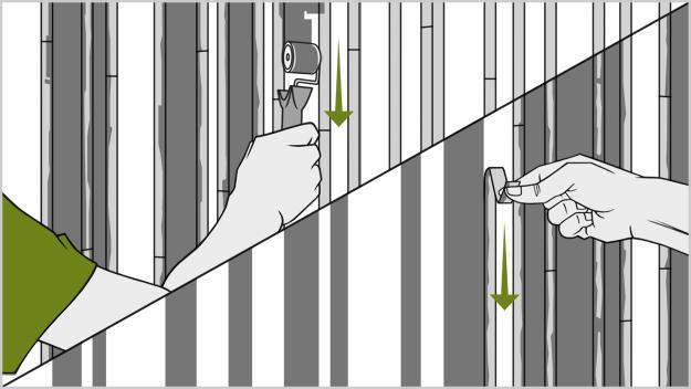 Рисуем полосы на стенах - альтернатива обоям