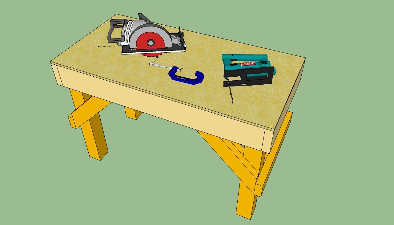 Сделать верстак плотника своими руками 1