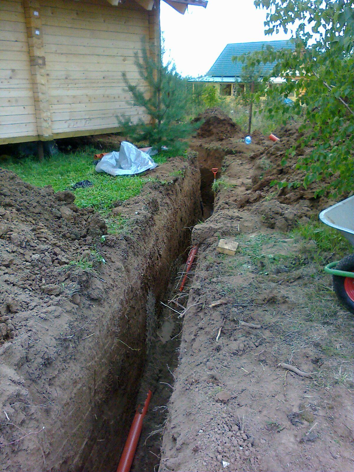 Канализация из покрышек: как копать и выкопать 6