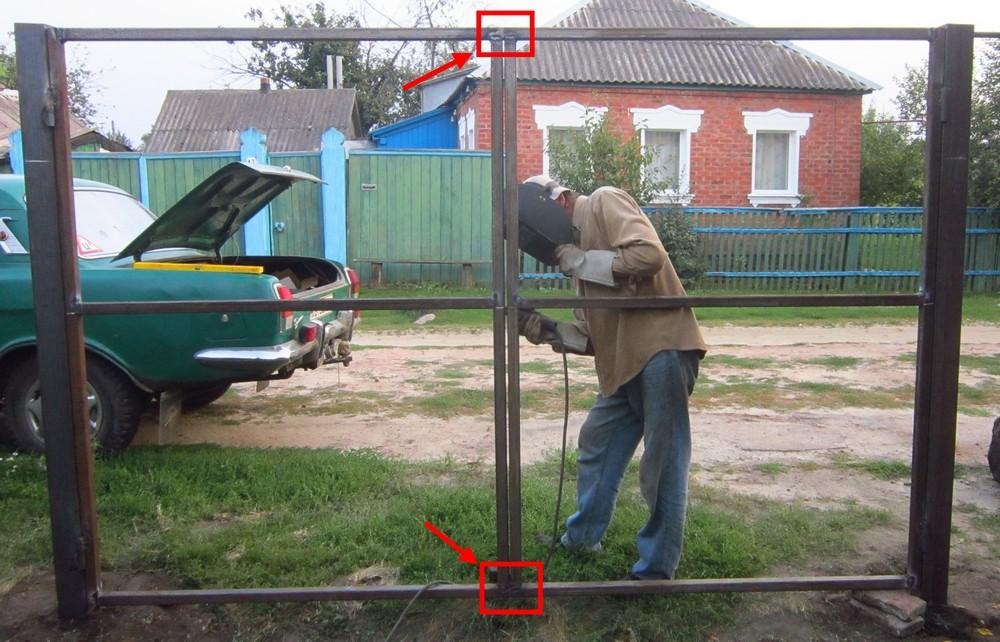 Как сделать ворота своими руками фото на