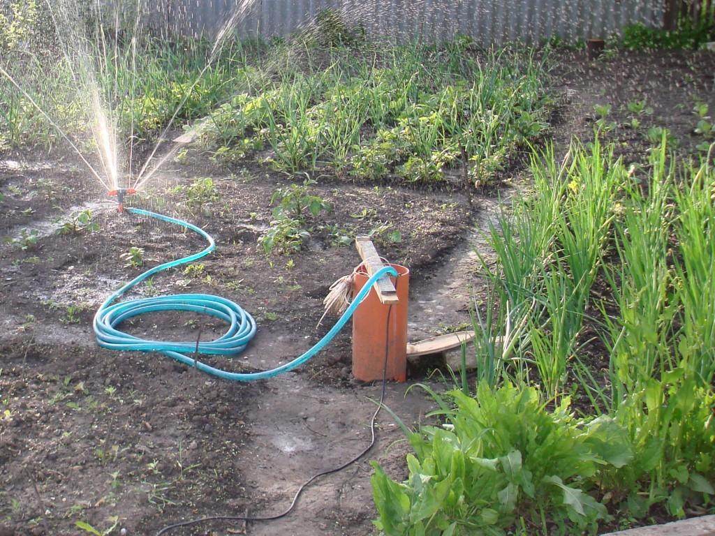 Скважина для полива огорода своими руками