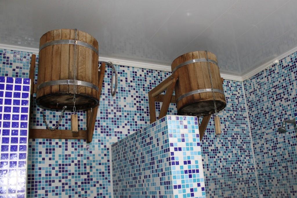 Как сделать в бане душевую кабину