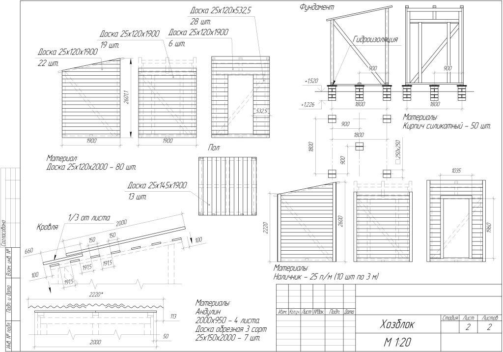 Бытовка своими руками чертежи список стройматериала