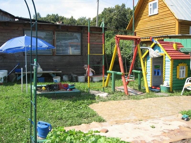 Детские площадки для дачи своими руками с фото
