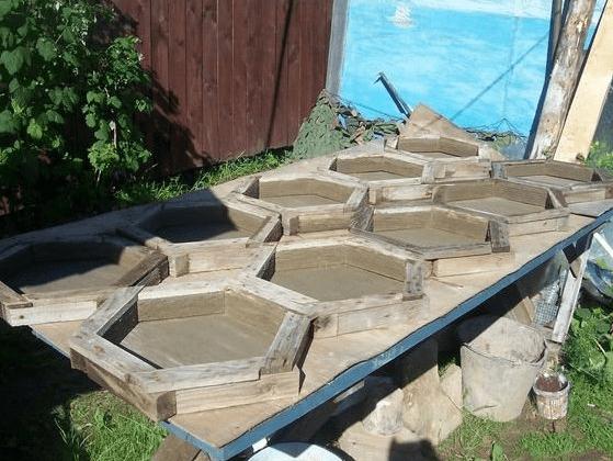 Сделай сам своими руками плитку садовую