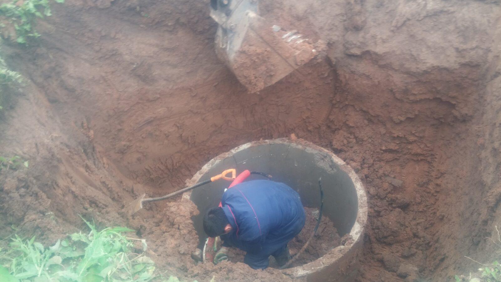 Кессон из бетонных колец для скважины своими руками