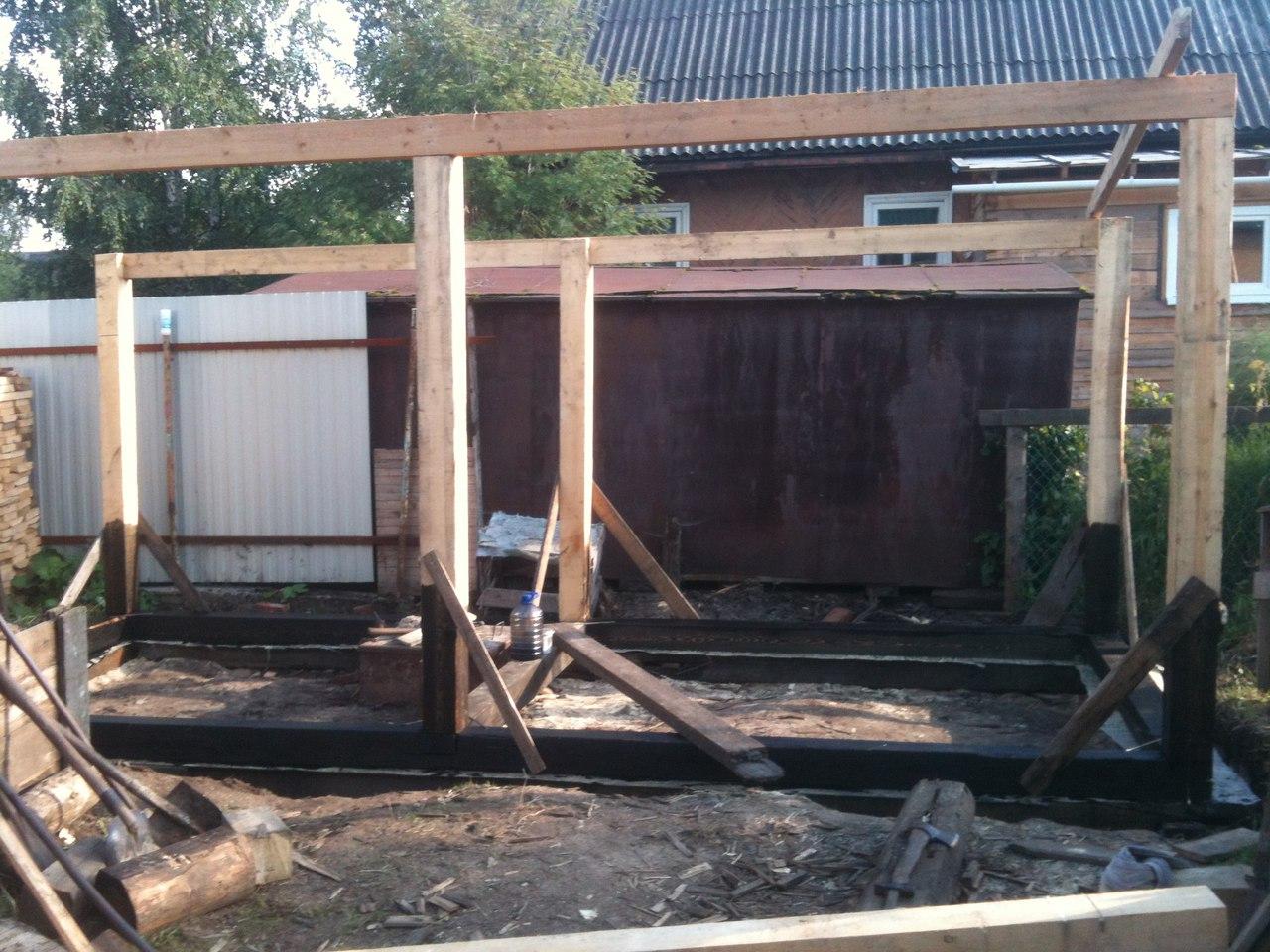Сарай из бруса своими руками строительство деревянных 15