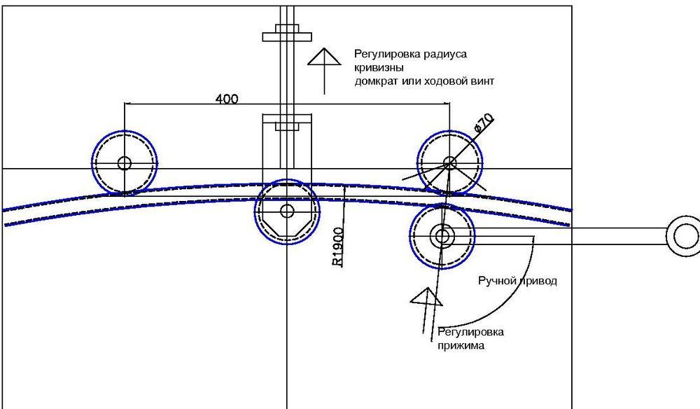 Чертеж самодельный станок для гибки профильной трубы своими руками чертежи 124