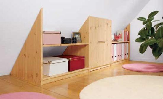 Мебель своими руками для мансарды