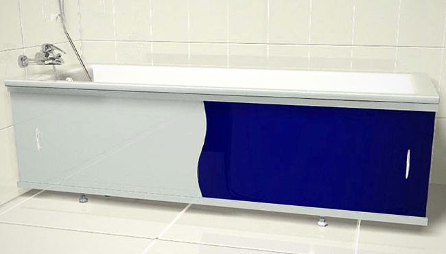 Экран под ванну раздвижной пластиковый